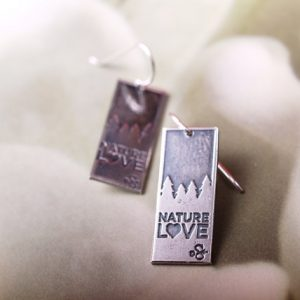 Nature Love Sterling Etched earrings