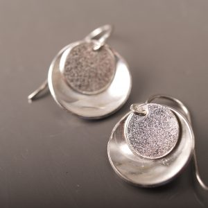 Textured Mirror and Tab Earrings