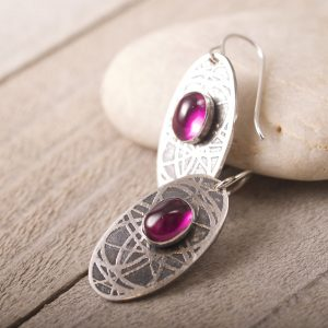 Chaos Earrings with Ruby